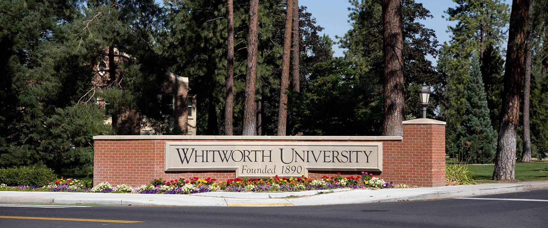 Whitworth University front entrance